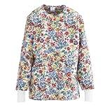 Medline ComfortEase Ladies Jewel Neck Warm-Up Scrub Jacket
