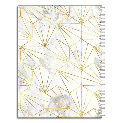 Golden Girl Personalized Modern Marble Spiral Notebook/Journal, 120 College Ruled or Checklist Pages, durable laminated cover, and wire-o spiral. 8.5x11 | 5.5x8.5 | Made in the USA Photo #3