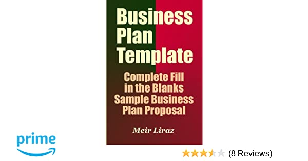 business plan template complete fill in the blanks sample business