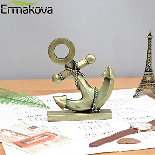 - GTIN Metal Anchor Figurine Iron Boat Anchor Statue Mediterranean Style Home Desktop Decoration Restaurant Bar Metal Figurine 1 Pcs