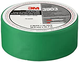3M Vinyl Duct Tape, Green, 2-Inch by 50-Yard, 6.3 Mil