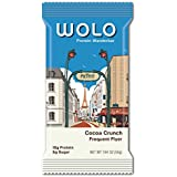 WOLO Protein WanderBar Cocoa Crunch, All Natural, 15g Protein, 6g Sugar, 12g Fiber, Gluten Free, Soy Free, Antioxidant Blend Protein Bar, 1.94 oz, 12 Count