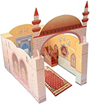 My Portable Playhouse Masjid for Muslim Kids - Educational Interactive Toy for Learning Praying, Quran Book, P