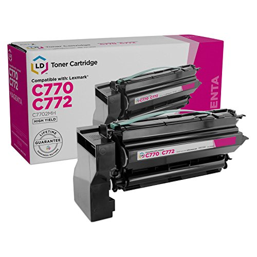 - LD Remanufactured C7702MH High Yield Magenta Laser Toner Cartridge for Lexmark C770 & C772