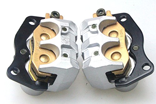 New LEFT & RIGHT FRONT BRAKE CALIPER SET FOR YAMAHA RHINO 660 450 YXR 660 2004-2007 by USonline911 (Image #7)