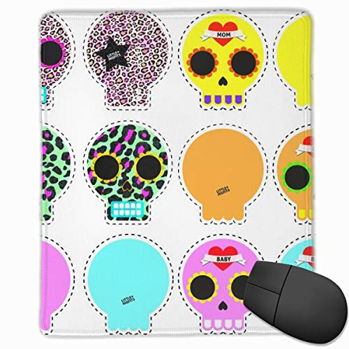 Siwbko Little Misfits Sugarskull Pillows Funny Mousepad Non-Slip Rubber Gaming Mouse Pad Rectangle Mat