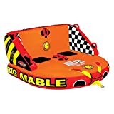 Sportsstuff Inflatable Towable Tube Big Mable Double Rider Made of Heavy Duty Full Nylon Cover with Zipper 66 x 60 Inches