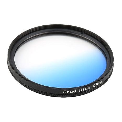 Universal 58mm Filtros Circo Espejo Redondo Lente Gradiente UV ...