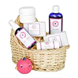 Deluxe Baby's Gift Basket - Unscented Baby Oil with Calendula Oatmeal Soaps