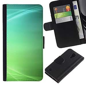 KLONGSHOP / Tirón de la caja Cartera de cuero con ranuras para tarjetas - Lines Ubuntu Abstract Clean Minimalist - Samsung Galaxy S4 IV I9500