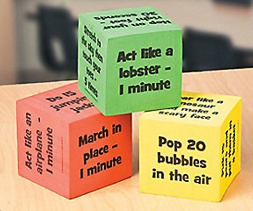 Classroom Brain Break Activity Dice - Pack of -