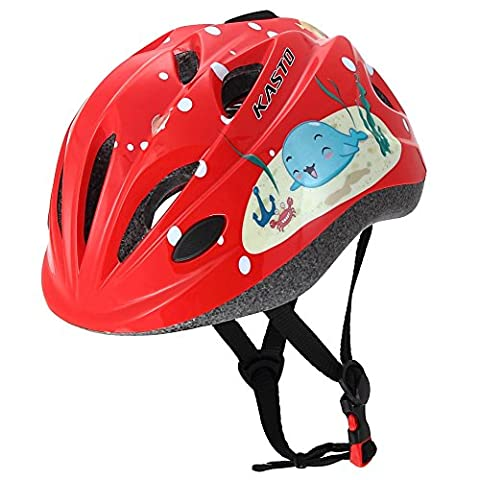 Dostar Kids Bike Helmet – Adjustable Octopus Whale Helmet from Ages 3-10 - Cycling Scooter Multi-sport Durable Kid Bicycle Helmets for Boys and Girls - CSPC Certified for Safety and Comfort (Red (Red Helmets For Kids)