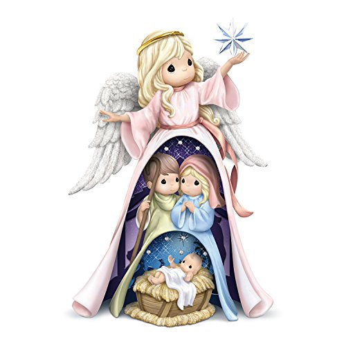 Collection Bethlehem Nativity (The Hamilton Collection Precious Moments Nativity 3 in 1 Nesting Figurine Set with Swarovski Crystals)