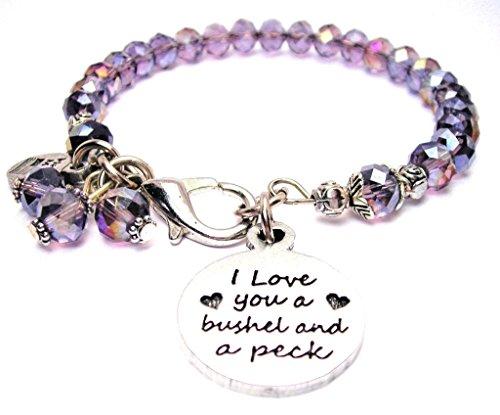 I Love You A Bushel And A Peck Splash of Color Bracelet in Plum Purple