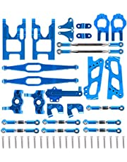 RC Alloy Aluminum Front Lower Arm Upgrade Spare Parts Swing Arm C Seat Rear Main Beam Kit Fit for WLtoys 12428/12423 1:12 RC Car