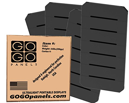 GOGO Panels - P2BB - Black Half Panel 2' x 1' - 12-pack by Gogo Panels
