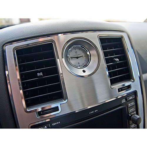 Stainless Steel Center Dash - Upgrade Your Auto Stainless Steel Center Dash Trim for 2005-2010 Chrysler/Dodge Charger/Magnum/300