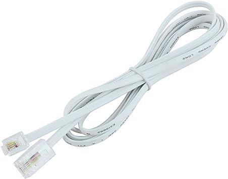 StarLightd Desqueena Extensi/ón telef/ónica Cablefor RJ11 Puertos duales de Escritorio Cable Adaptador de Conector Extender