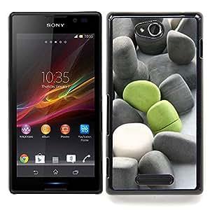 - Deep Meaning Green Grey Beach/ Duro Snap en el tel????fono celular de la cubierta - Cao - For Sony Xperia C S39h C2305