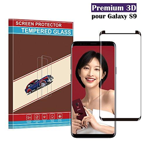 Samsung Galaxy S9 Panzerglas Schutzfolie, Dianjin Hohe Qualität 3D Displayschutzfolie [Ultra Klar] [Anti-Kratzen] [Anti-Fingerabdruck] [Blasenfreie Installation] Gehärtetes Glas Panzerglas Folie für Samsung Galaxy S9