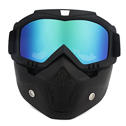 3817b6d9f8 ThyWay Anti-Fog Windproof Motorcycle Goggles Riding Detachable Modular Face  Mask Shield Goggles - Protect