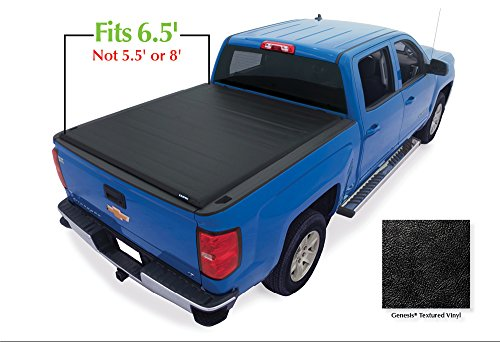 Lund 96093 Genesis Roll Up Truck Bed Tonneau Cover for 2007-2018 Silverado & Sierra 1500, 2500 HD, 3500 HD | Fits 6.5' Bed - Lund Soft Roll