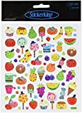 Multi-Colored Stickers-Fruit Faces
