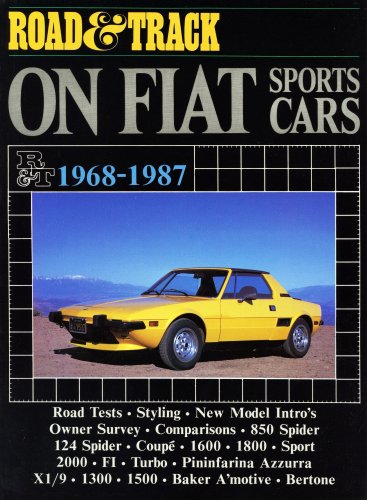 Road & Track On Fiat Sports Cars 1968-1987 (Brooklands Books)