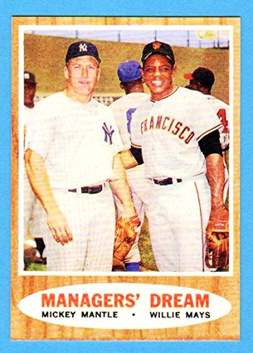 Mickey Mantle, Willie Mays 1962 Baseball **Managers Dream**Reprint Card (Yankees)