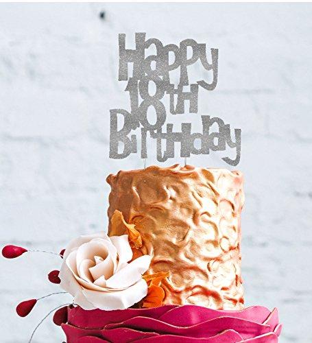 Glitter Gold LissieLou Happy 18th Birthday Cake Topper
