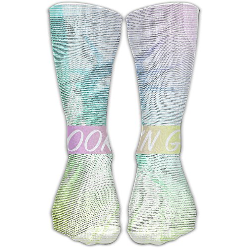 ZHONGJIAN Unisex Knee High Long Socks Brooklyn Grit 2017 Slogan Statue Of Liberty Sport Wrist Socks 30cm (Brooklyn Light T-shirt)