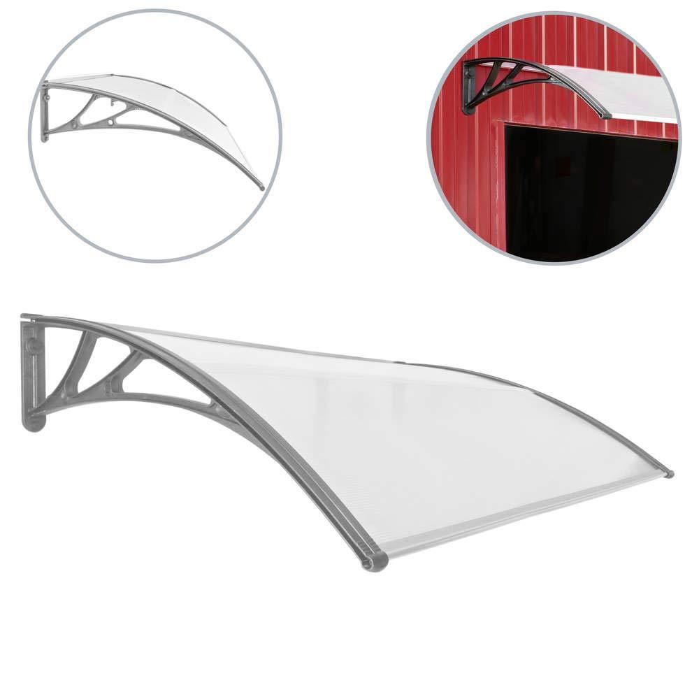 PrimeMatik - Tejadillo de protecció n Marquesina para Puertas y Ventanas Gris 150x100cm PrimeMatik.com