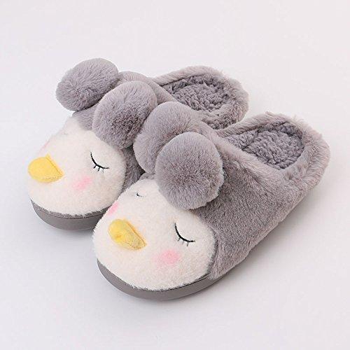 16 gris 17 de charmante sur coton pied d'hiver chaud enfants maison épais Chaussons d'enfants en fille 14 femmes une long 5cm RgqOSnx7Aw