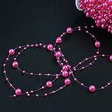 Bingcute 100 Feet Fishing Line Artificial Pearls