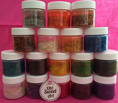 Edible Glitter Pick Up your COLOR 1/4 oz. cakes, cupcakes, cookies By Oh! Sweet Art (RAINBOW) WE HAVE MORE COLORS IN OUR AMAZON STORE