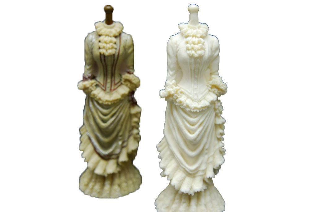3D Dress, Handmade Silicone Mold Mould sugarcraft Candle Clay ice Tray Chocolate soap Making