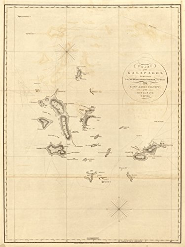 (Map: 1798 Chart of the Galapagos|Discovery and Exploration|Galapagos Islands)