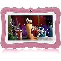 Hoonee Touch Kids Tablet 7 Pulgadas, ROM de 32GB, KIDOZ Certificado por Coppa y Google Play preinstalado con Funda a Prueba de niños, WiFi, Rosa Claro, regulaciones Europeas