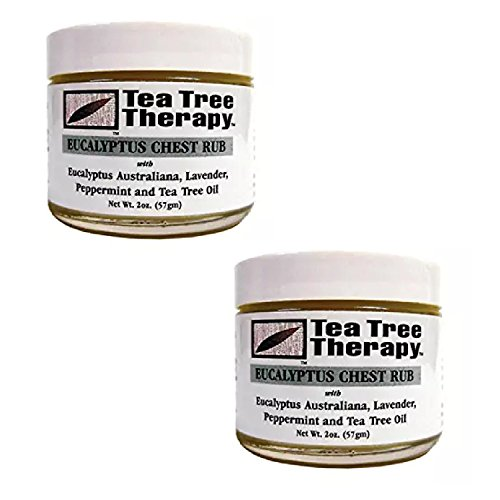 Tea Tree Therapy Eucalyptus Australian Chest Oil, Lavender Peppermint and Tea Tree, 2 Ounce (2-Pack) (Plantation Tree Teak)