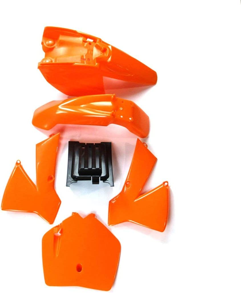 Xlyze Plastique T/ête de Fourche Aile Kit pour KTM50 KTM50SX MT50 MTK50 Mini S/énior Junior Adventure SX SR Jr KTM 50cc MT Moto-Cross Orange