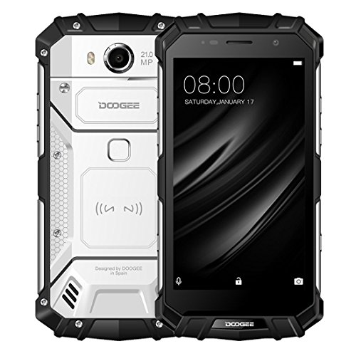 Unlocked Cell Phones, DOOGEE S60 4G Rugged Smartphone Unlocked Android 7.0-5580mAh Battery - 5.2'' FHD Screen - IP68 Waterproof Dustproof Shockproof - 6GB RAM + 64GB ROM - 21MP Camera - S60 Smartphone