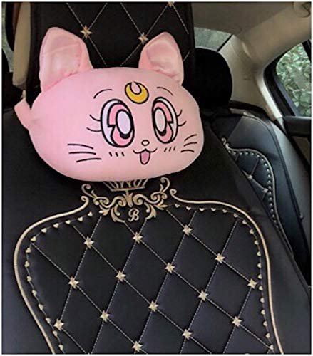 Peachy Baby Featuring Sailor Moon Car Seat Neck Pillow Girly Cute Lots of Options (A) Pink (1 Pair Comes with 2)