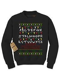 Expression Tees Strange Merry Christmas Ugly Holiday Crewneck Sweatshirt