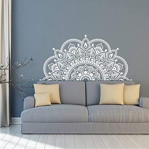 Ponana Vinilo Tatuajes De Pared Medio Mandala Etiqueta De La Pared Mural Regalo De Yoga Inicio Cabecero Decoración Interior...