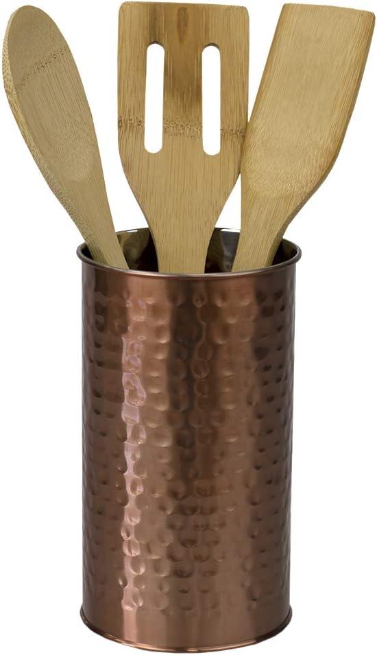 Home Basics, Copper Hammered Finish Utensil Holder