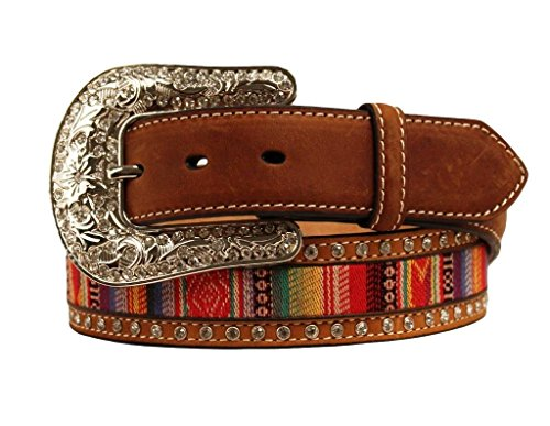 Nocona Women's Aztec Ribbon Inaly Belt Med Brown Large by Nocona Boots