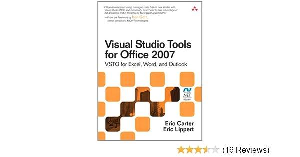 Amazon com: Visual Studio Tools for Office 2007: VSTO for