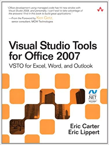 Amazon com: Visual Studio Tools for Office 2007: VSTO for Excel