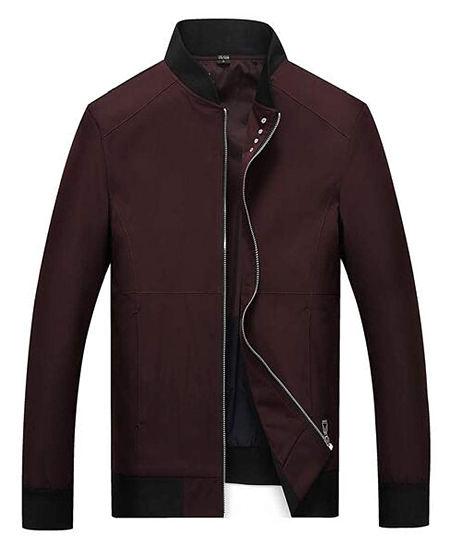 GRMO Men Over Sized Casual Regular Fit Relaxed fit Zip up Bomber Jacket