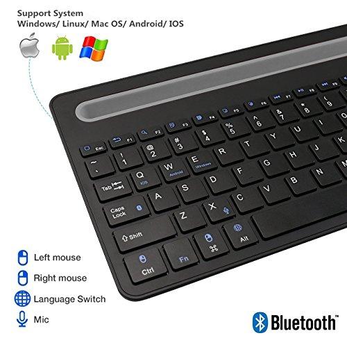 lovely Zoweetek Rechargeable Wireless Bluetooth Keyboard with